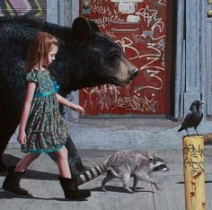 I walk with my spirit animals. They are always by my side...