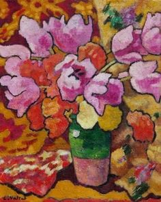 Louis Valtat Tulips in a Pitcher 1936