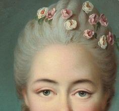 Portrait de Mademoiselle de Forges (Détail) François Hubert Drouais 1770