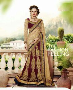 Indian Sarees for Women - Latest Designer Sarees Online Shopping Lehenga Style Saree, Party Wear Lehenga, Bridal Lehenga, Saree Wedding, Lehenga Choli, Sharara, Salwar Kameez, Velvet Saree, Indian Sarees Online