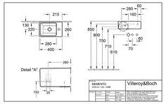 Downstairs WC: Villeroy & Boch Memento Edition wash hand basin 40 x 26 cm 53334G01 - MEGABAD