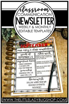 Are you looking for an easy prep editable class newsletter template to help you communicate weekly or monthly with parents