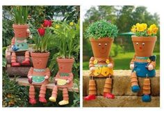 How To Make Clay Pot Flower People  Now this is really awesome!  And so simple you can imagine how to make it let alone get the directions.  Happy Garden!