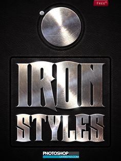 Free Iron Photoshop Styles by designercow on deviantART