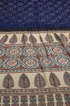 Blue Fabric, Silk Fabric, Ajrakh Prints, Dabu Print, Paisley Art, Bandhani Saree, Silk Sarees Online, Textile Prints, Pakistan