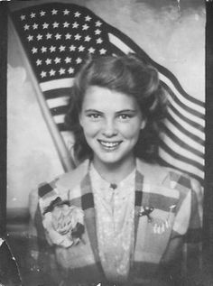 +~ Vintage Photo Booth Picture ~+  This is one of my favourite photo booth pictures - she has such a beautiful smile.