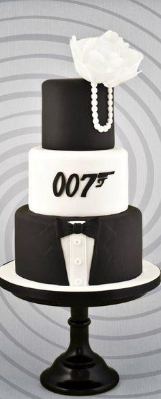 James-Bond-Wedding-Cake torturi в 2019 г. james bond cake, c James Bond Cake, James Bond Party, Fondant Man, Fondant Cakes, Cupcakes, Cupcake Cakes, Beautiful Cakes, Amazing Cakes, James Bond Wedding