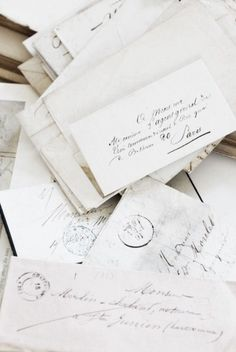 Old letters! Old letters! Heartfelt and time taking! Old letters! I CANNOT RESIST THEM . Plum Pretty Sugar, Old Letters, White Letters, Letters Mail, You've Got Mail, Handwritten Letters, Handwritten Typography, Vintage Lettering, Lost Art
