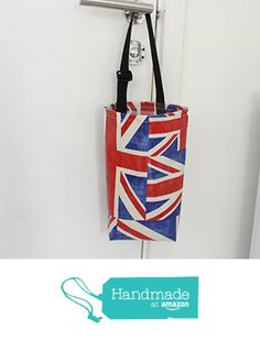Handmade Caddy - Car Rubbish, Trash Bag, Bottle Holder, Door Hanger or Thread Catcher - Union Jack in Oilcloth from Yummy Art and Craft https://www.amazon.co.uk/dp/B072B6PR9B/ref=hnd_sw_r_pi_dp_kE0izb5DS01DZ #handmadeatamazon