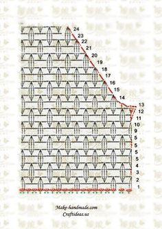 crochet lace vest and cardigan diagram