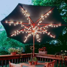 Clear Patio Umbrella Lights   Party City