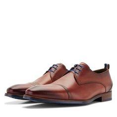 Leder-Schnürschuh mit Gummisohle Men Dress, Dress Shoes, Derby, Oxford Shoes, Lace Up, Model, Products, Fashion, Braided Leather