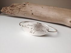 Actual Handwriting Jewelry Signature Jewelry Sterling Silver Custom Handwriting Memorial Jewelry Personalized Memorial Bracelet by mimiluboutique on Etsy