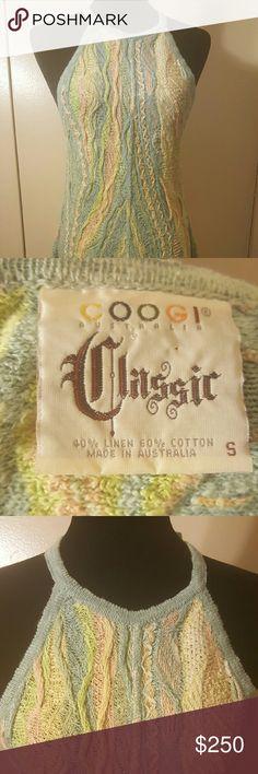 Vintage Classic Coogi Halter Knit sweater dress AUTHENTIC VINTAGE COOGI Multi-color pastel vintage classic halter neck/ A-line style knit sweater dress. Excellent condition like new COOGI Dresses Backless