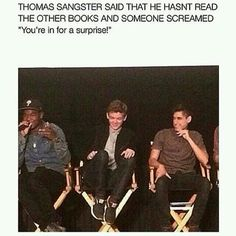You are in for a surprise Thomas! Thomas Sangster from The Maze Runner ~Newt♥