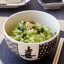 Japanese Salad- cucumbers, soy sauce, rice vinegar and ginger :) Yum! ~GirlNesting