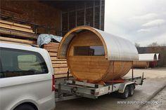 Fasssauna mit Tonnendach