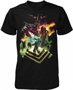 AUTHENTIC MINECRAFT ALCHEMY YOUTH TEE STEVE CREEPER ENDER DRAGON SHIRT S-XL