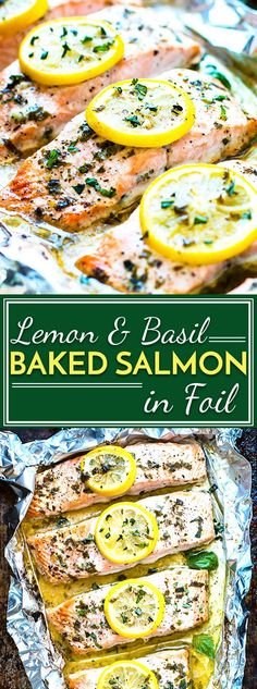 Basil & lemon baked salmon in foil is a healthy and easy way to make a low-carb, Paleo and gluten-free dinner for the whole family.. This seafood recipe is a quick meal full of omega-3s and healthy fats.