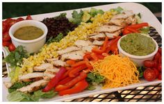 Grilled Mexican Chicken Salad with Cumin Lime Vinaigrette by a farmgirlsdabbles #Salad #Chciken #Mexican #afarmgirlsdabbles