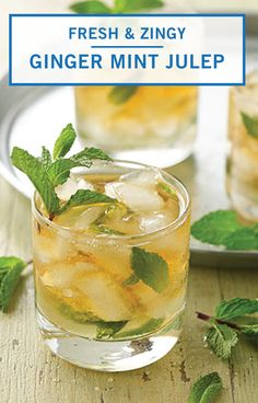 Get the party started with this Ginger Mint Julep from Inspired Gathering. You can't celebrate the arrival of spring without a signature cocktail recipe! This refreshing adult beverage is perfect for a derby, Easter brunch, or outdoor garden party. Refreshing Summer Cocktails, Summer Drinks, Cocktail Recipes, Dinner Recipes, Signature Cocktail, Easter Brunch, Party Guests, Party Drinks, Beverages