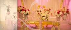 Pink wedding roses, orchids and calls all done by us Leila Temori