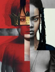 An interesting collage from different photos of Rihanna, a group of photos creating one image. Collage Mural, Photo Wall Collage, Rihanna Riri, Rihanna Style, Rihanna Baby, Beyonce, Red Aesthetic, Aesthetic Pictures, Bad Girl Wallpaper