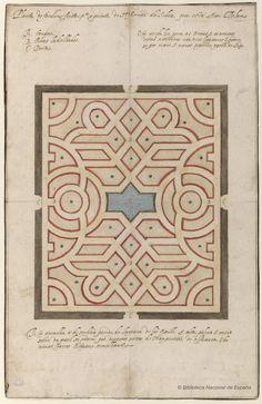 [Planta para el jardín del palacio de los Silva en Belem]. Casale, Giovanni Vincenzo 1539-1593 — Dibujo — 1590