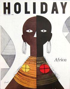 Holiday Magazine, April 1957  Illustration by George Giusti
