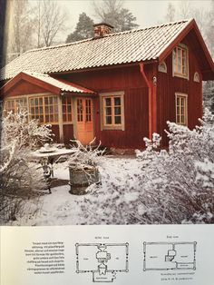 Swedish Cottage, Red Cottage, Beautiful Buildings, Beautiful Homes, Norwegian House, Sweden House, Red Houses, Tiny House Cabin, House Siding