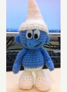 Smurf amigurumi crochet pattern by xsugarhuix on Etsy, $3.50