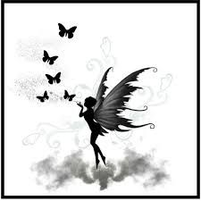 Picture score for fairy tattoo silhouette goth - Tattoo Modelle - Future Tattoos, New Tattoos, Body Art Tattoos, Small Tattoos, Cool Tattoos, Tatoos, Silhouette Tattoos, Fairy Silhouette, Borboleta Tattoo