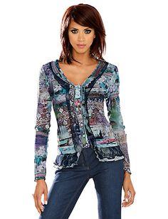Koop Linea Tesini - Shirtjasje multicolour in de Heine online-shop