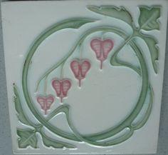 Meißner Ofen- und Porzellanfabrik, vormals C.Teichert, Meißen http://www.ebay.de/itm/Jugendstil-Fliese-Kachel-art-nouveau-tile-tegel-carreau-M-O-P-F-Meisssen-/290976304746?pt=Porzellan_Keramik&hash=item43bf8a0e6a