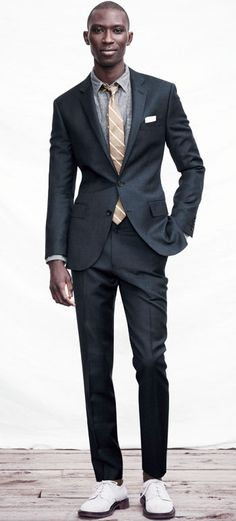 Esquire recommends this suit as the most affordable suit to get a job – perfect for weddings too! #Colgate #OpticWhite #WeddingMonth http://bit.ly/1lc9DHM