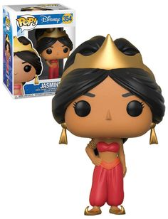 Funko Aladdin - Jasmine Red Pop Vinyl Figure for sale online Funko Pop Dolls, Funko Pop Figures, Pop Vinyl Figures, Pop One Piece, Barbie Princess, Cinderella Princess, Princess Aurora, Princess Jasmine, Princess Bubblegum
