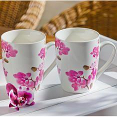 Šálka na kávu Orchidea