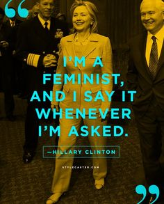 25 Life Lessons from Our Favorite Celebrities | Hillary Clinton on being a Feminist