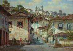 MORGILLI - Ouro Preto - Óleo sobre tela - 70 x 100