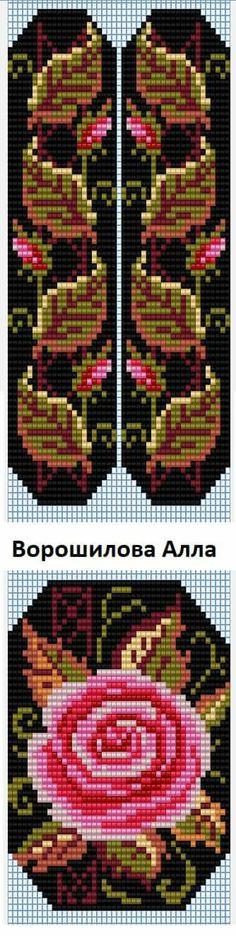 Bead Loom Patterns, Beaded Jewelry Patterns, Beading Patterns, Embroidery Patterns, Cross Stitch Designs, Cross Stitch Patterns, Cross Stitch Flowers, Brick Stitch, Loom Beading