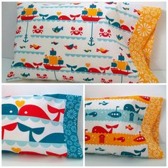 Organic Pillowcase: Whale of a Time Custom by DelanoDesignsHome