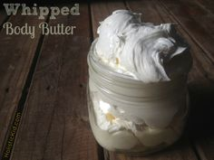 Homemade lotion whipped body butter