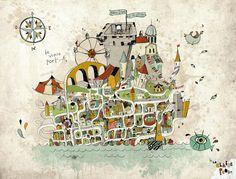 city illustration - Marseille  by La Claire Production.