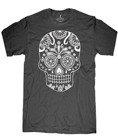 Mens unisex T-shirt --- Sugar Skull ---- sizes sm med lg xl xxl 3xl, 4xl, 5xl on Etsy, $15.00