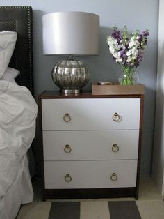 DIY Ikea Rast Makeover- I don't like the drawer pulls but it's a great tutorial & is super easy & cheap!