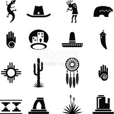 Download this Southwest Icons Set vector illustration now. And search more of iStock's library of royalty-free vector art that features Anasazi graphics available for quick and easy download.