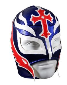 REY MYSTERIO Lucha Libre Wrestling Mask (pro-fit) Blue/White/Red