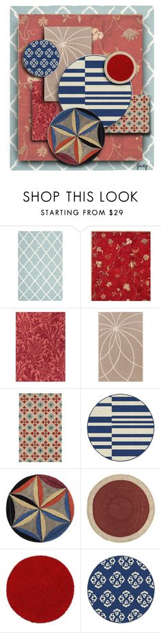 """""""Another Rug Collage"""" by judymjohnson ❤ liked on Polyvore featuring interior, interiors, interior design, home, home decor, interior decorating, Safavieh, Country Curtains, Surya and Rizzy Home"""