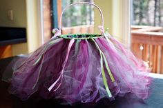 DIY Tutu Easter basket tutorial from Organized Chaos. Could also be a cute flower girl basket