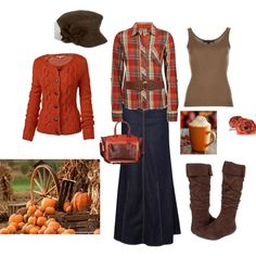 Pumpkin Spice by lovemykidz on Polyvore featuring BKE, Fat Face, Ralph Lauren Black Label, MANGO, Romantic Soles, Reed Krakoff and August Hat